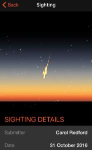 Fireballs in the Sky App