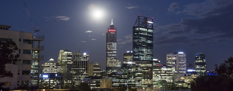 Supermoon Over Perth
