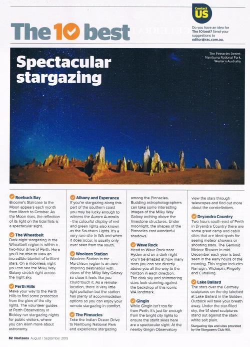 Best Stargazing Places in WA | Top 10 spots from Stargazers Club WA