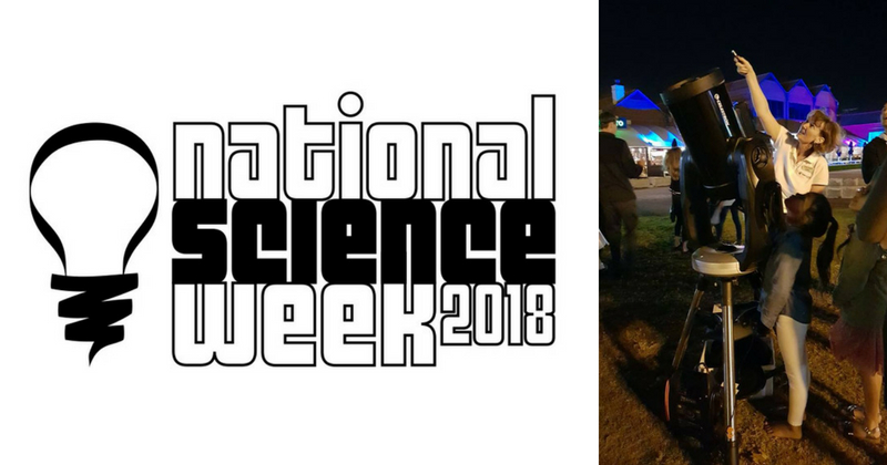 Where is Galaxy Girl for National Science Week?