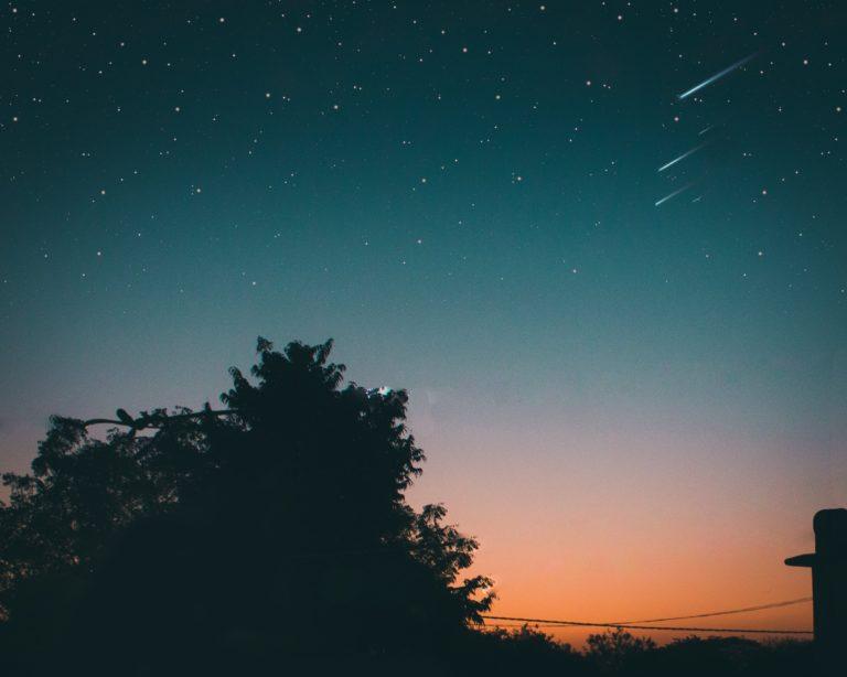 Meteor Shower in the Sky