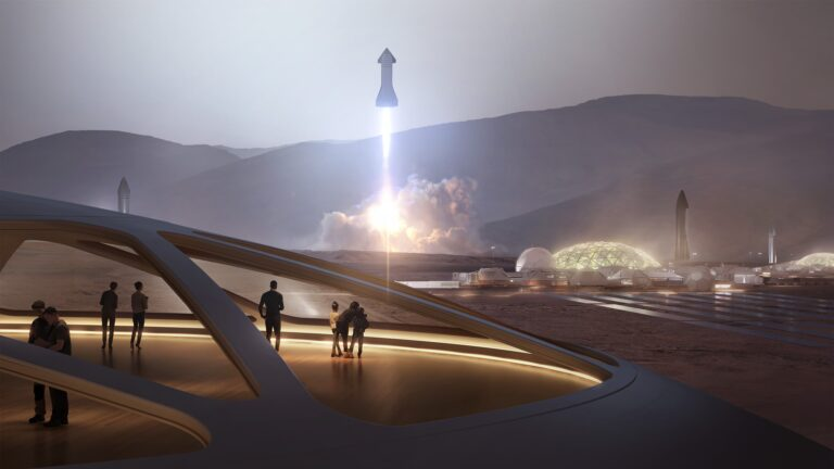 SpaceX Colony on Mars